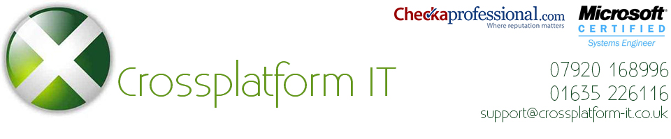 Cross Platform IT - computer and network support in Newbury and Thatcham